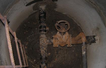 Обследование канализационного колодца