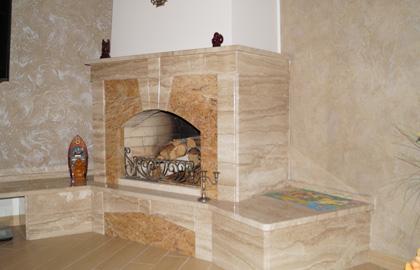 Ремонт гостиной с камином